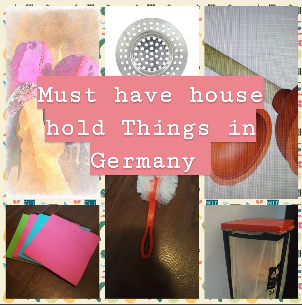 Must need household things for those who are new toGermany